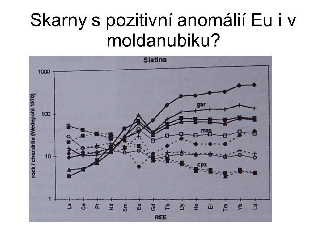 Skarny s pozitivní anomálií Eu i v moldanubiku?