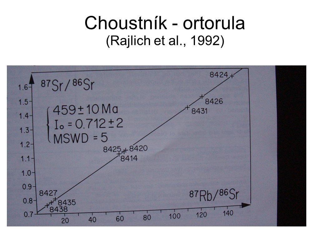 Choustník - ortorula (Rajlich et al., 1992)