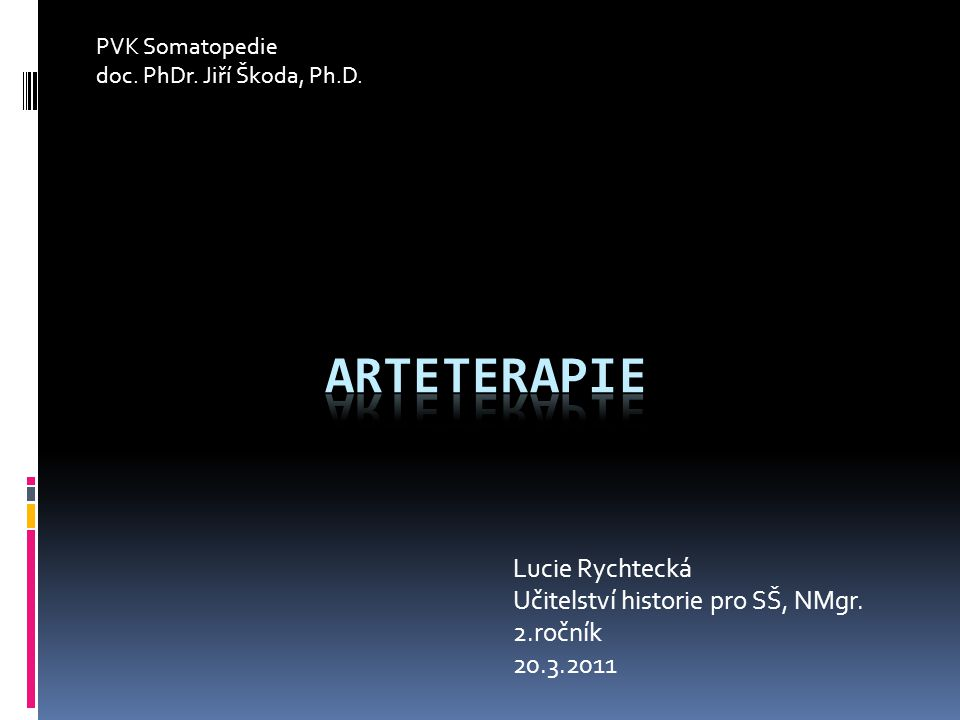 Lucie Rychtecká Učitelství historie pro SŠ, NMgr.2.ročník 20.3.2011 PVK Somatopedie doc.
