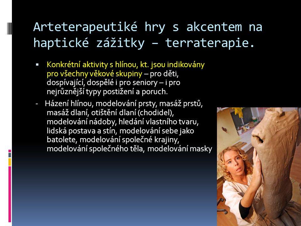 Arteterapeutiké hry s akcentem na haptické zážitky – terraterapie.