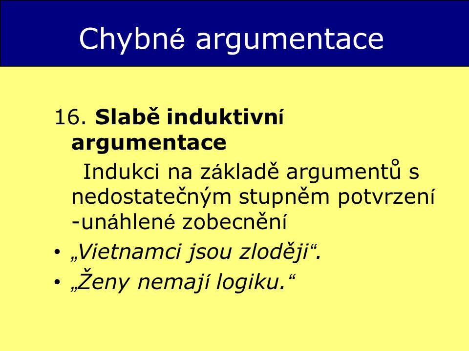 Chybn é argumentace 16.