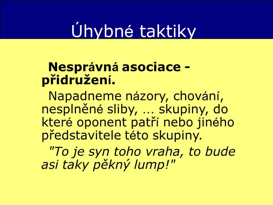 Ú hybn é taktiky Nespr á vn á asociace - přidružen í.