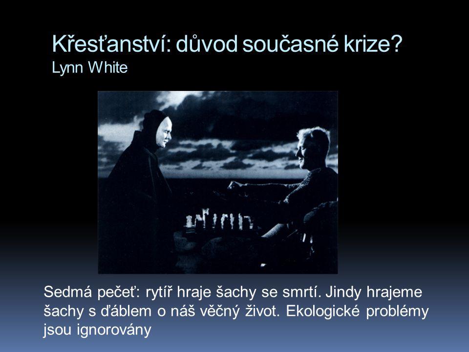 Křesťanství: důvod současné krize? Lynn White Sedmá pečeť: rytíř hraje šachy se smrtí. Jindy hrajeme šachy s ďáblem o náš věčný život. Ekologické prob