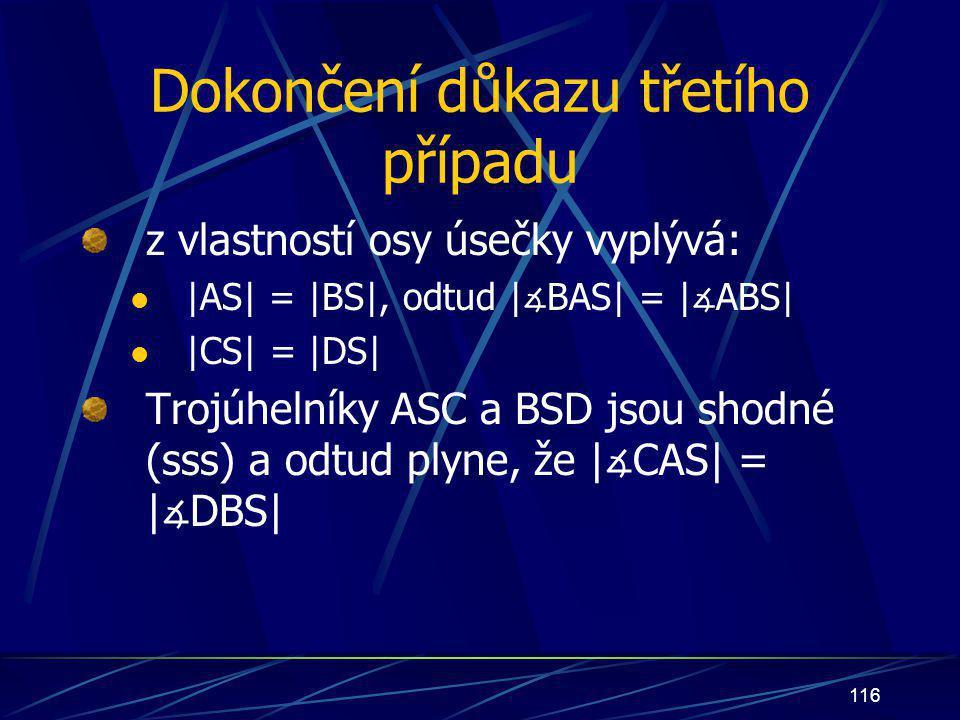 115 trojúhelníky ASC a BSD jsou shodné