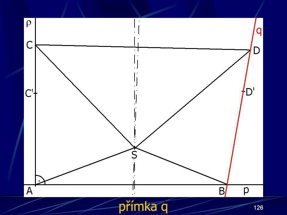 125 Konstrukce prvního případu Buď dána rovina ρ, dále: 13.