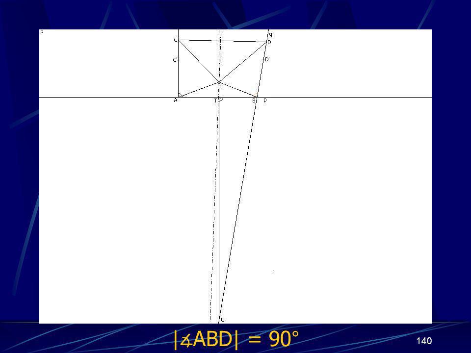 139 Dokončení sporu prvního případu z vlastností osy úsečky vyplývá | ∡ BTU| = 90° Protože | ∡ ABD| = 90°