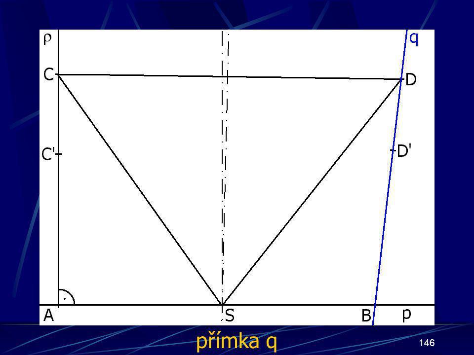 145 Konstrukce druhého případu Buď dána rovina ρ, dále: 13.