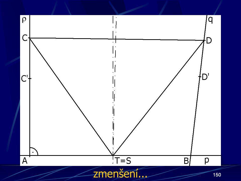 149 Konstrukce druhého případu Buď dána rovina ρ, dále: 15.