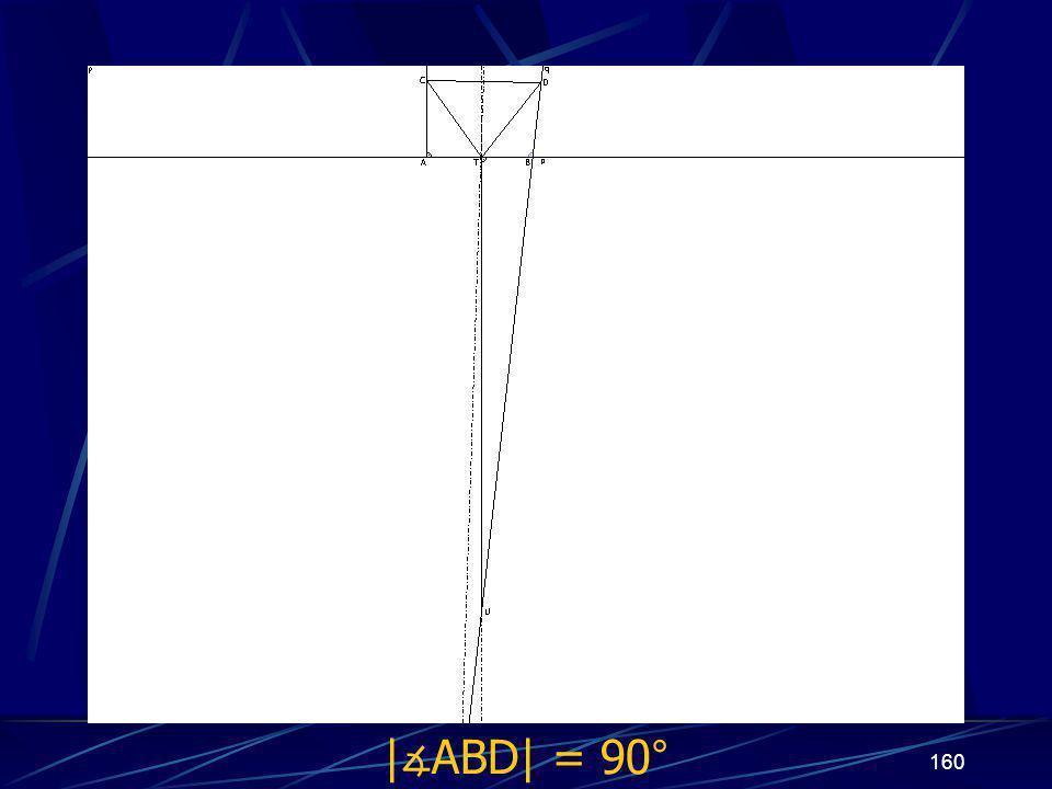 159 Dokončení sporu druhého případu z vlastností osy úsečky vyplývá   ∡ BTU  = 90° Protože   ∡ ABD  = 90°
