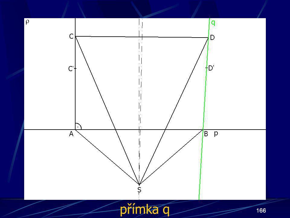 165 Konstrukce třetího případu Buď dána rovina ρ, dále: 13.