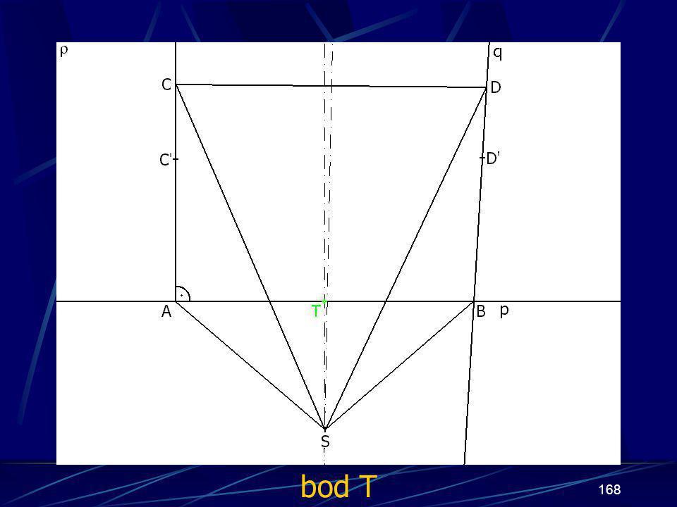 167 Konstrukce třetího případu Buď dána rovina ρ, dále: 14.