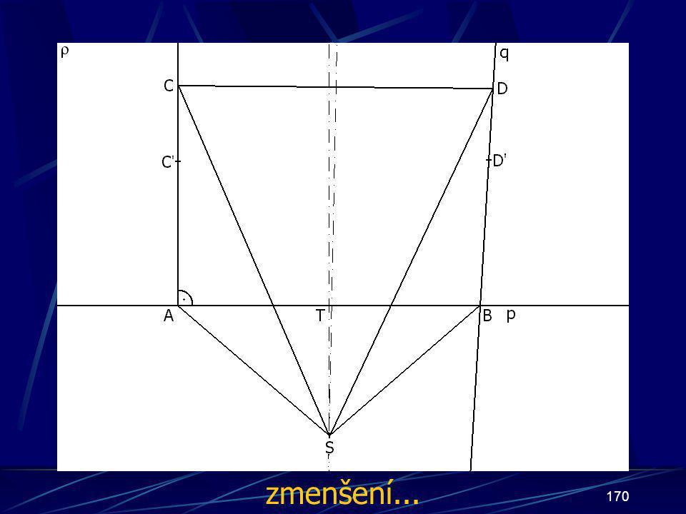 169 Konstrukce třetího případu Buď dána rovina ρ, dále: 15.