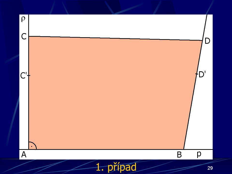 28 Důkaz Nyní mohou nastat tři případy: bod S bude ležet uvnitř čtyřúhelníka ABCD