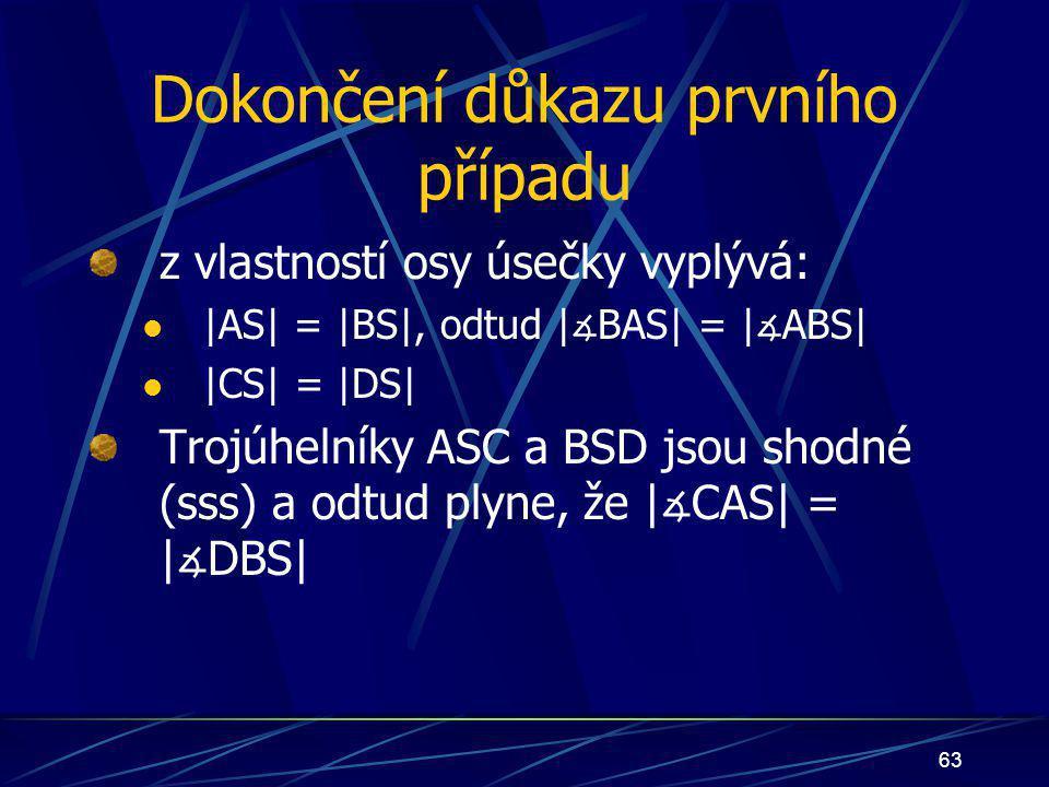 62 trojúhelníky ASC a BSD jsou shodné