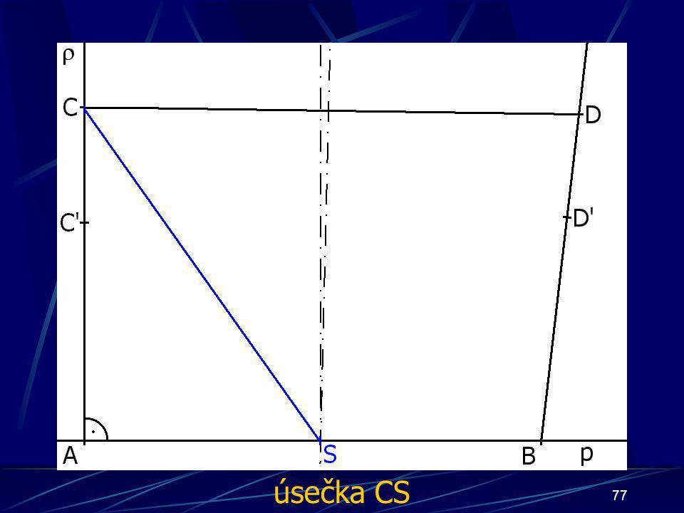 76 Konstrukce druhého případu Buď dána rovina ρ, dále: 9.