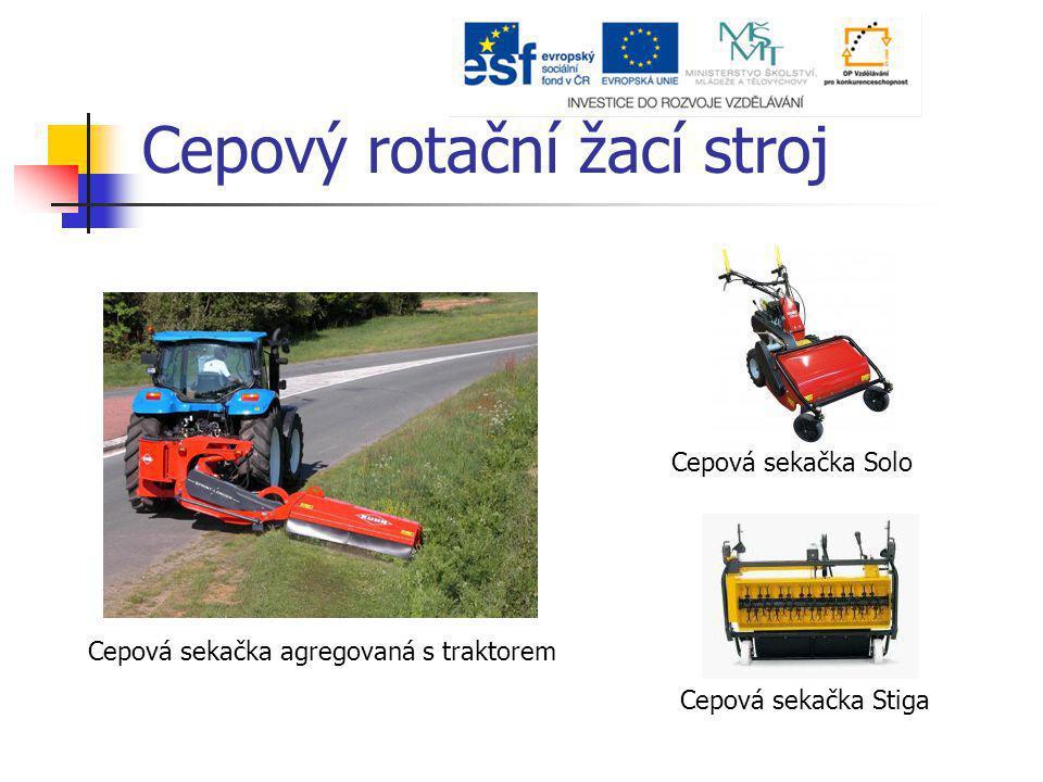 Cepový rotační žací stroj Cepová sekačka Stiga Cepová sekačka Solo Cepová sekačka agregovaná s traktorem