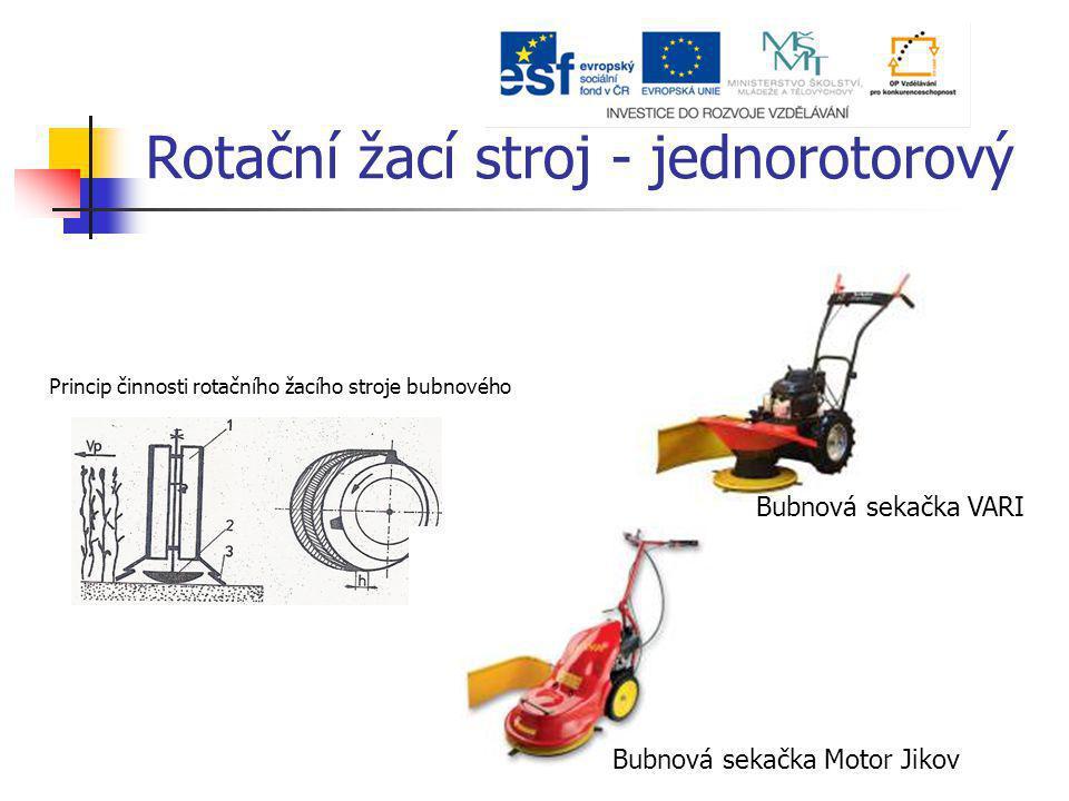 Princip činnosti rotačního žacího stroje bubnového Bubnová sekačka VARI Bubnová sekačka Motor Jikov