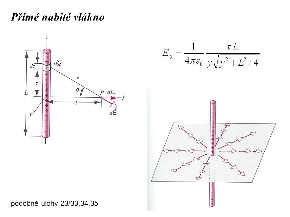 Přímé nabité vlákno podobně úlohy 23/33,34,35 dQ