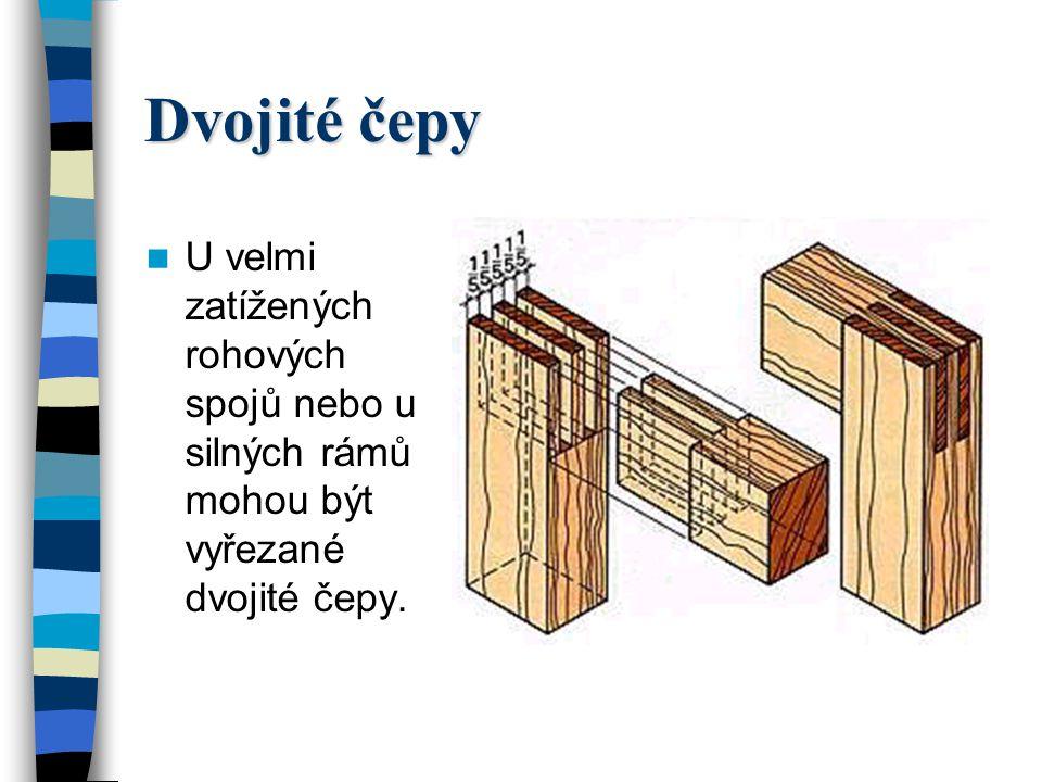 Kolíkové spojení rámů U kolíkového spojení rohů rámů mohou být rámy spojené kolíky tupě, na pokos, s nebo bez drážkového péra, s profilem nebo s protiprofilem – viz obrázek na následující straně.