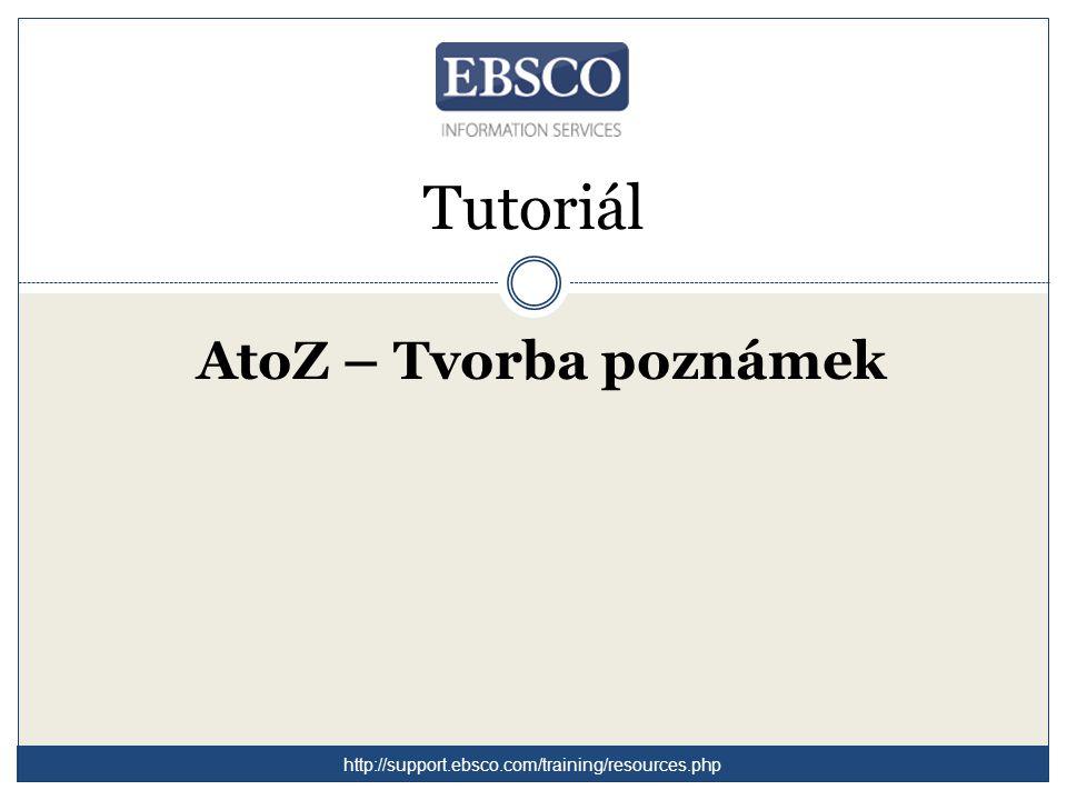 Vítejte v tutoriálu k administrativnímu rozhraní AtoZ / LinkSource.