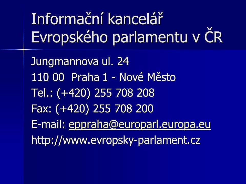 Informační kancelář Evropského parlamentu v ČR Jungmannova ul.