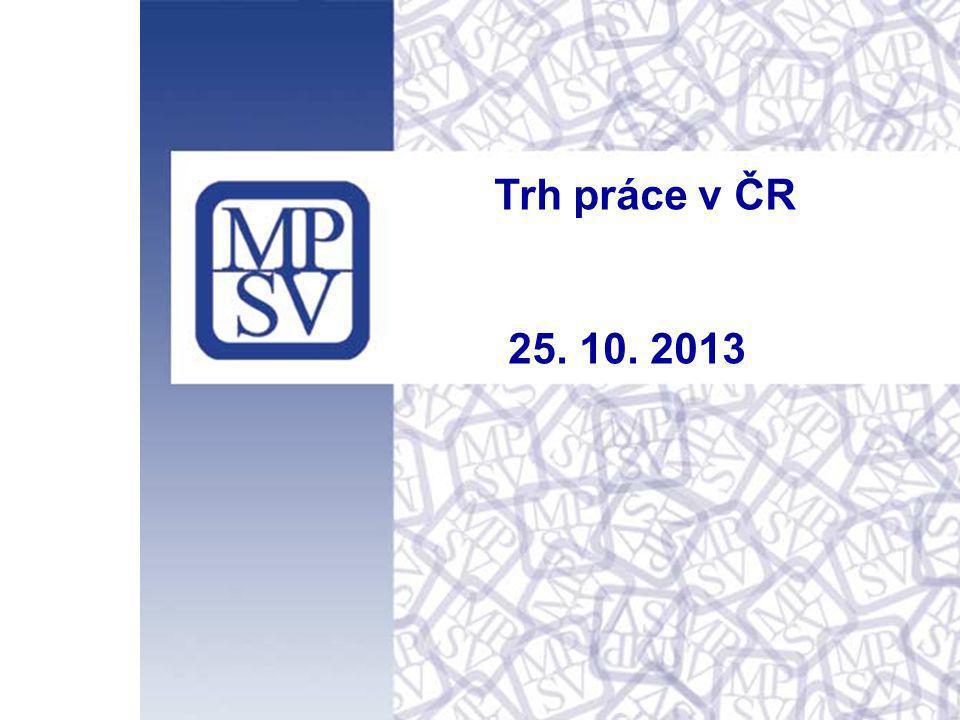 Trh práce v ČR 25. 10. 2013