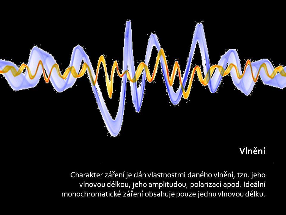 Vlnění Charakter záření je dán vlastnostmi daného vlnění, tzn.