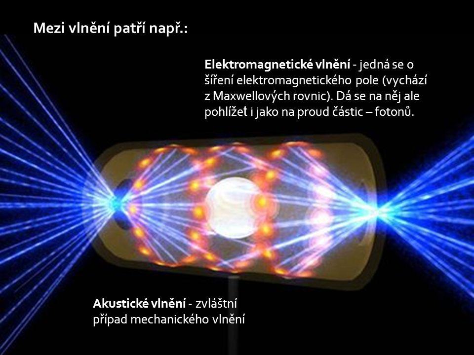 Korpuskulární záření Korpuskulární (neboli částicové) je představováno proudem částic.