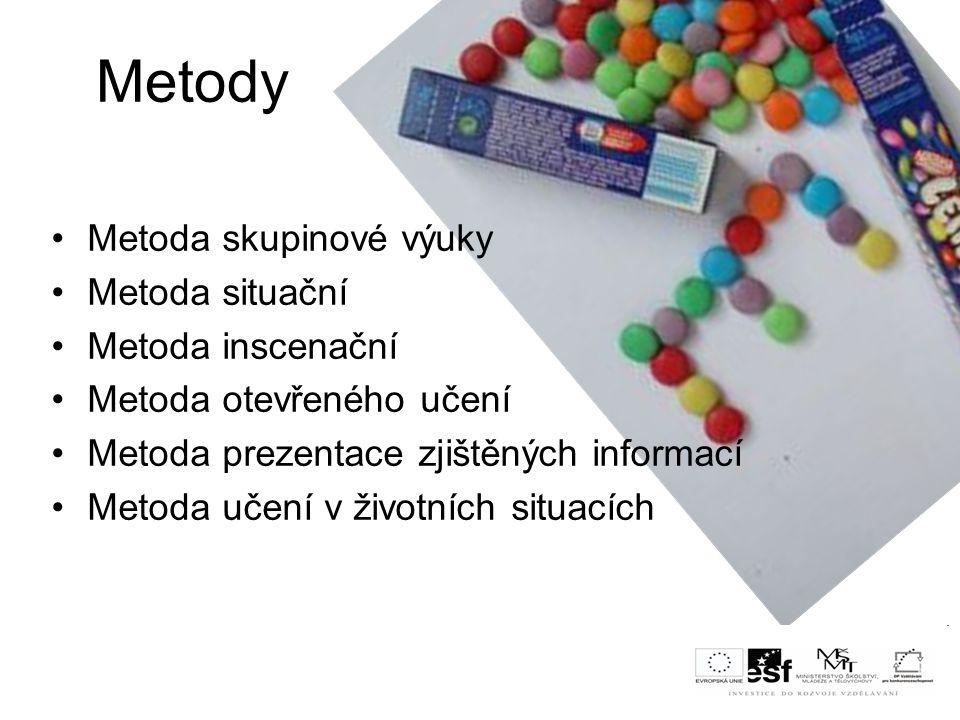Metody Metoda situační Podstatu tvoří řešení problémového případu, který odráží nějakou reálnou událost.