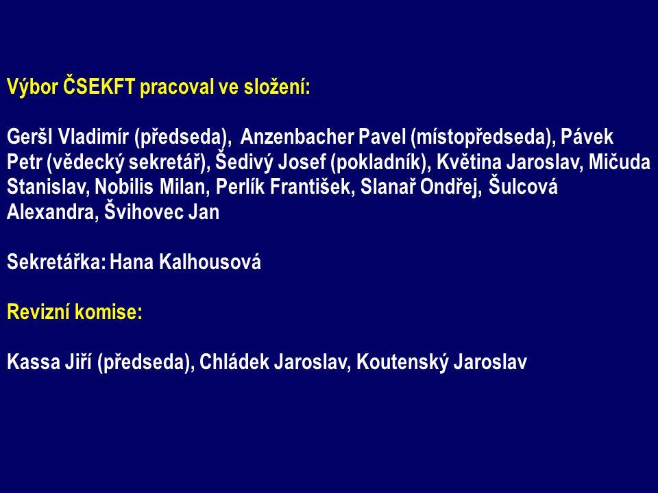 Výbor ČSEKFT pracoval ve složení: Geršl Vladimír (předseda), Anzenbacher Pavel (místopředseda), Pávek Petr (vědecký sekretář), Šedivý Josef (pokladník