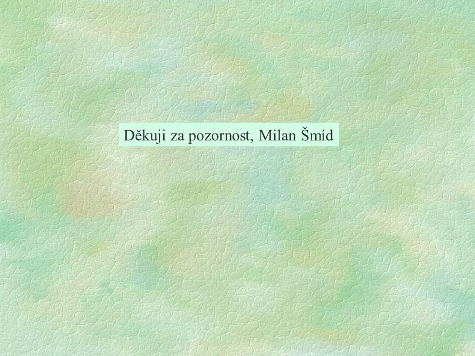 Děkuji za pozornost, Milan Šmíd