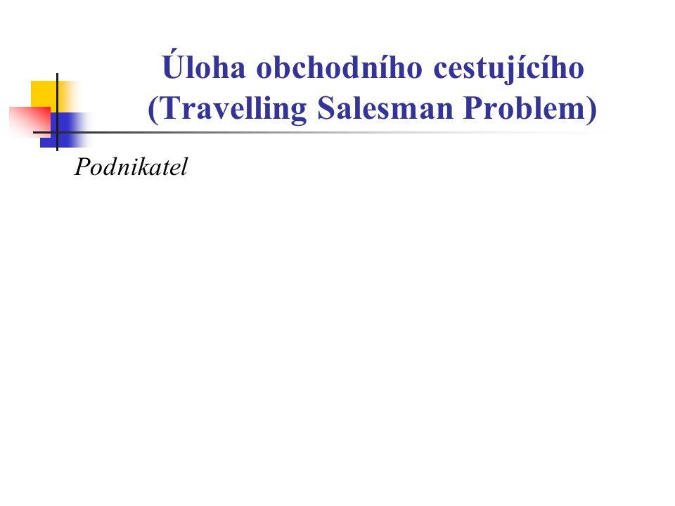 Úloha obchodního cestujícího (Travelling Salesman Problem) Podnikatel