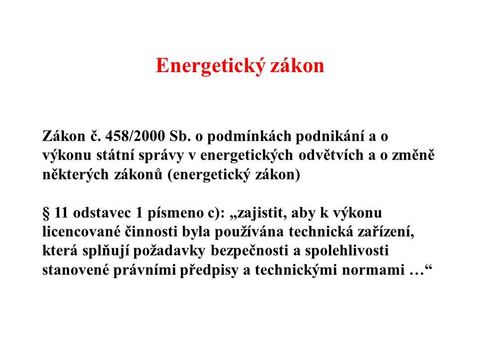 Zákon č. 458/2000 Sb. o podmínkách podnikání a o výkonu státní správy v energetických odvětvích a o změně některých zákonů (energetický zákon) § 11 od