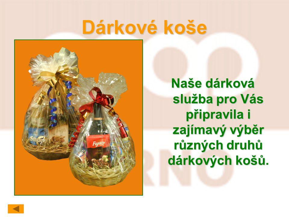 Naše dárková služba pro Vás připravila i zajímavý výběr různých druhů dárkových košů Naše dárková služba pro Vás připravila i zajímavý výběr různých d