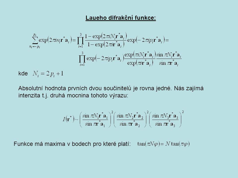 Z předchozího plyne: Příklad – dojčetná osa Monoklinní - monoklinní podél b To znamená, že jsou přípustné jen n-četné rotační osy pro n=1,2,3,4 a 6 případně jejich kombinace s prostorovou inverzí.