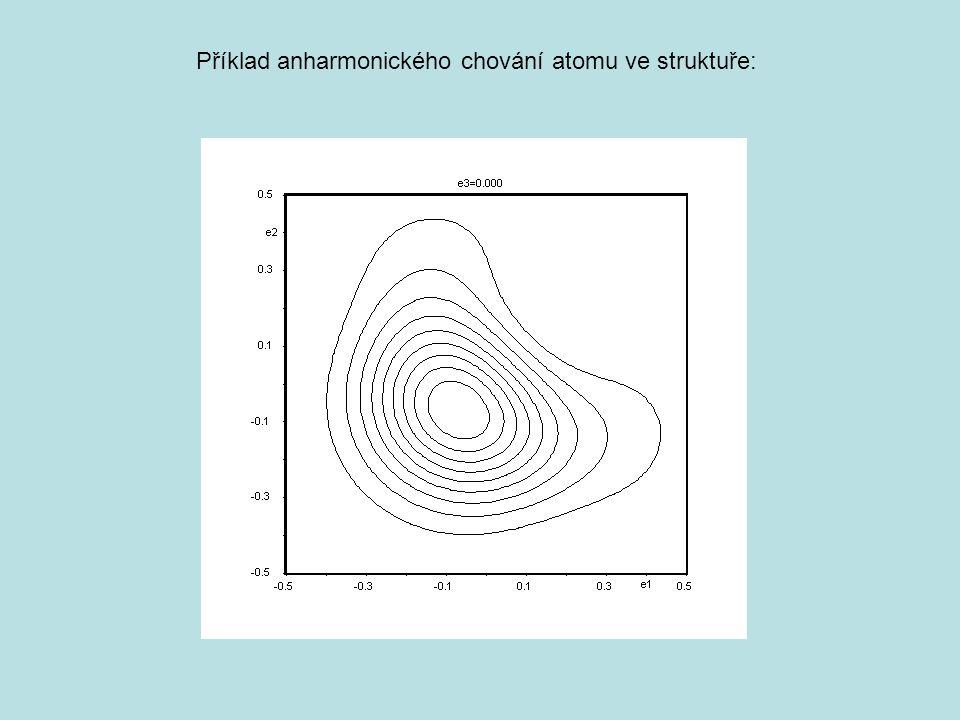 Příklad anharmonického chování atomu ve struktuře: