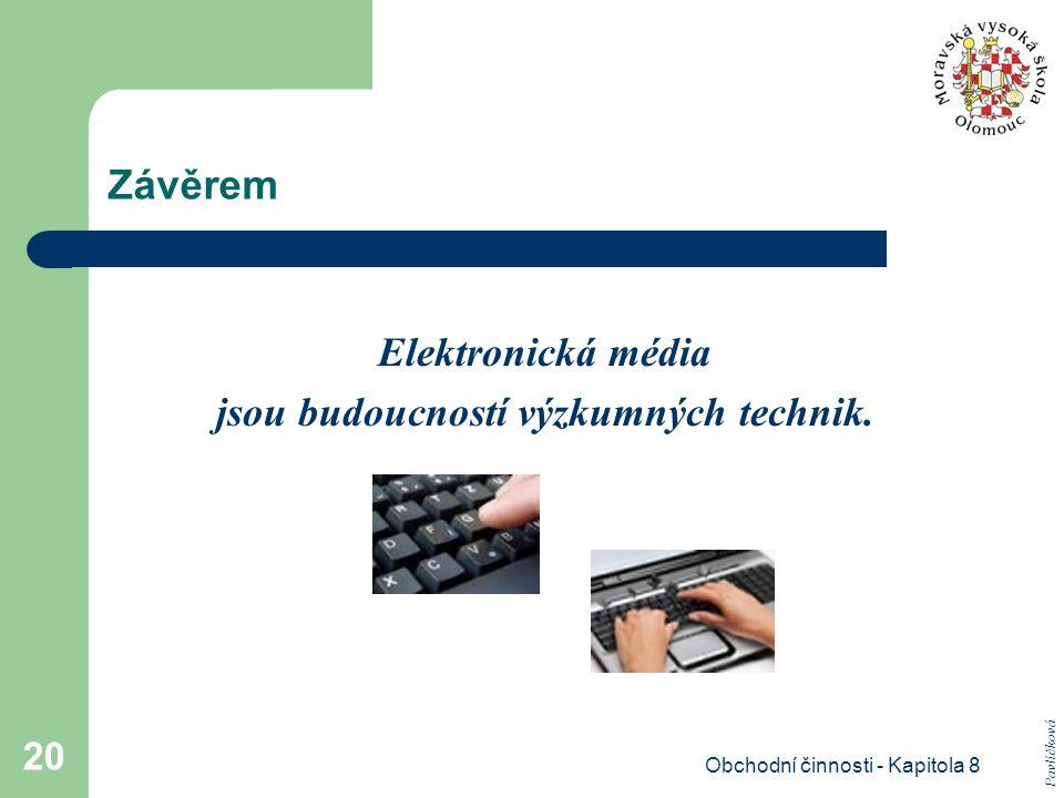 Obchodní činnosti - Kapitola 8 20 Závěrem Elektronická média jsou budoucností výzkumných technik. Pavlíčková