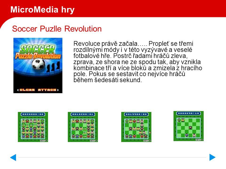 Soccer Puzlle Revolution MicroMedia hry Revoluce právě začala…..