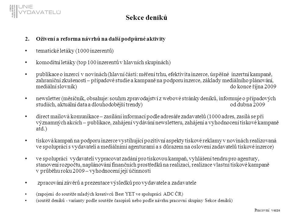 Organizační schéma sekretariátu Unie vydavatelů Stav k 12. 11. 2008