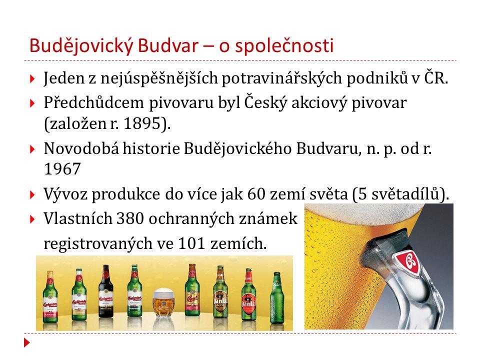 Budějovický Budvar – o společnosti  Jeden z nejúspěšnějších potravinářských podniků v ČR.