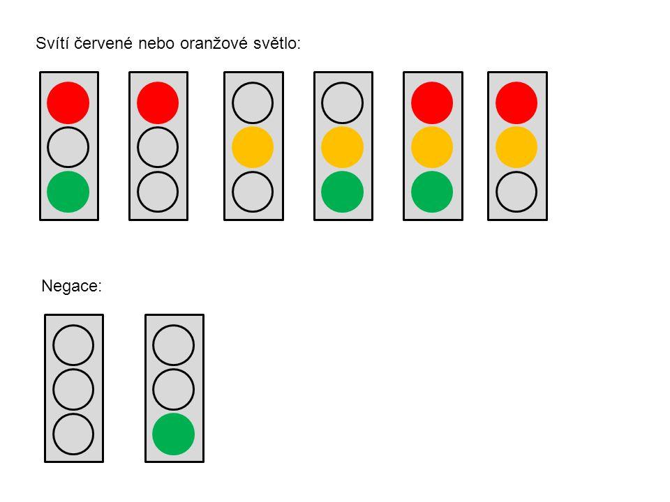 Svítí červené nebo oranžové světlo: