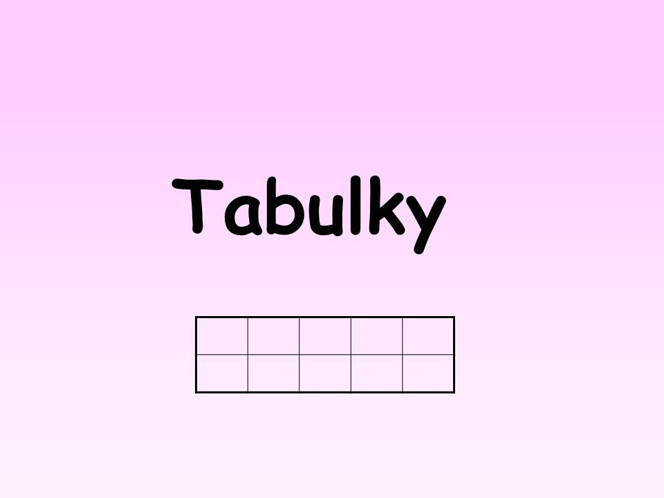 Vložení tabulky do textu Klepněte do místa, do kterého chcete tabulku vložit Karta Vložení Tabulky