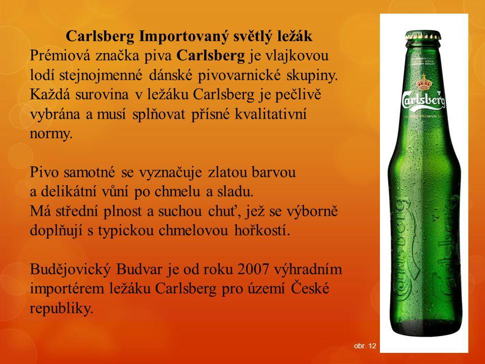 Carlsberg Importovaný světlý ležák Prémiová značka piva Carlsberg je vlajkovou lodí stejnojmenné dánské pivovarnické skupiny. Každá surovina v ležáku