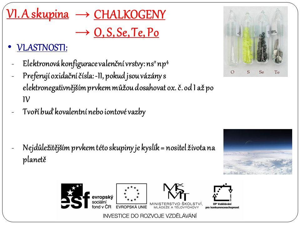 Chalkogeny = 6.