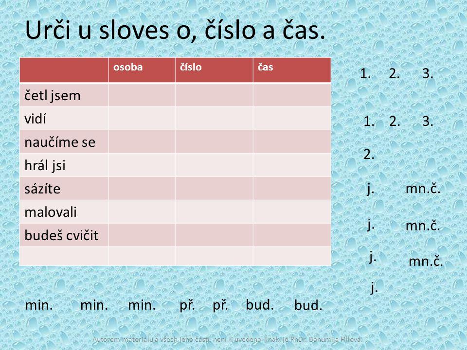Použitá literatura: HORÁČKOVÁ, M., STAUDKOVÁ, H., ŠTROBLOVÁ, J., Český jazyk pro 5.