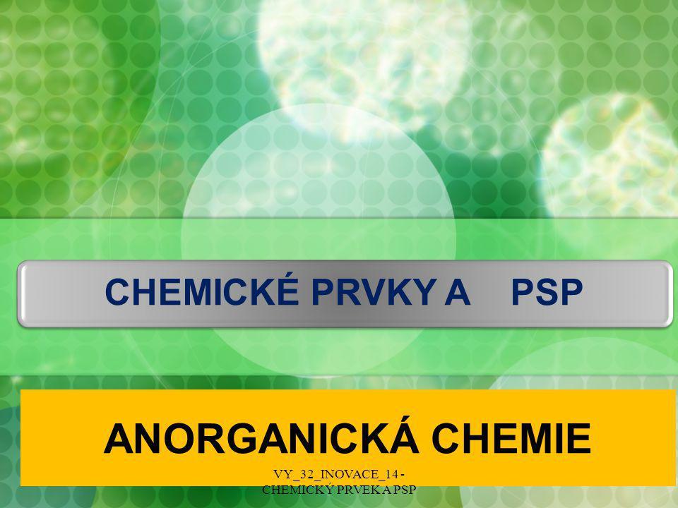 CHEMICKÉ PRVKY  Chemický prvek je chemická látka složená z atomů o stejném protonovém čísle.