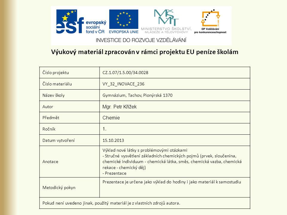 Číslo projektuCZ.1.07/1.5.00/34.0028 Číslo materiáluVY_32_INOVACE_236 Název školyGymnázium, Tachov, Pionýrská 1370 Autor Mgr.