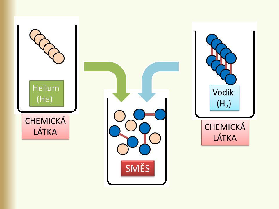 Helium (He) Vodík (H 2 ) Vodík (H 2 ) SMĚS CHEMICKÁ LÁTKA