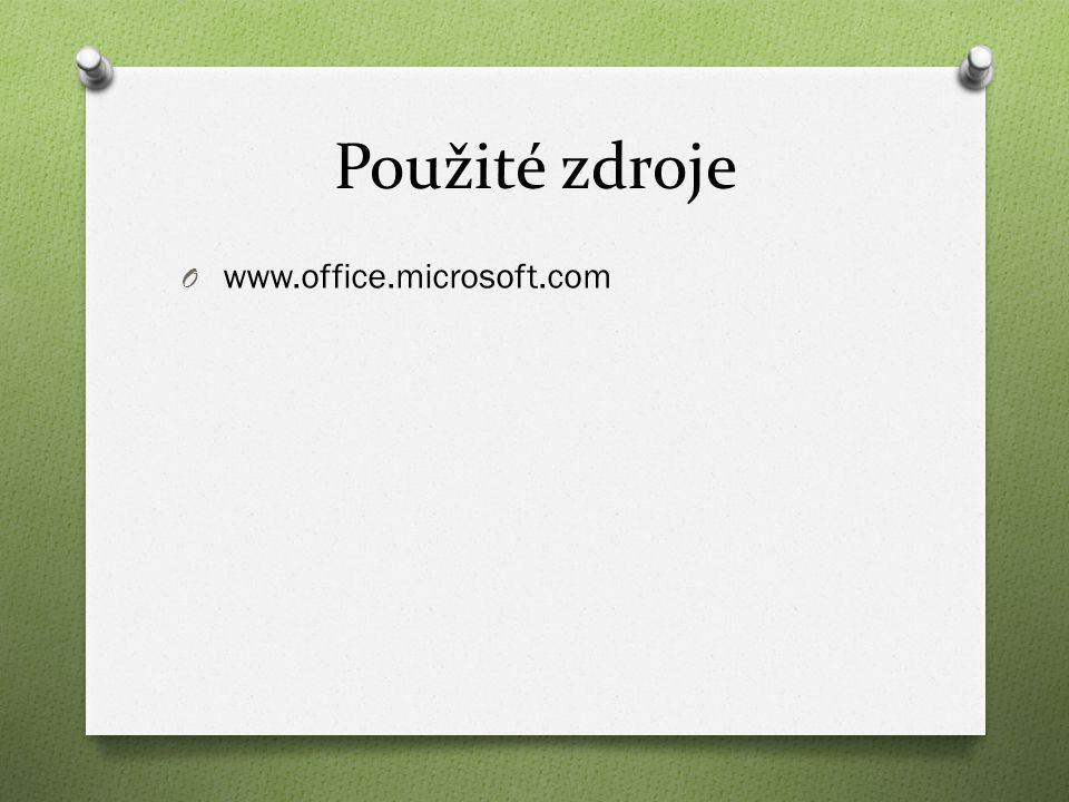 Použité zdroje O www.office.microsoft.com