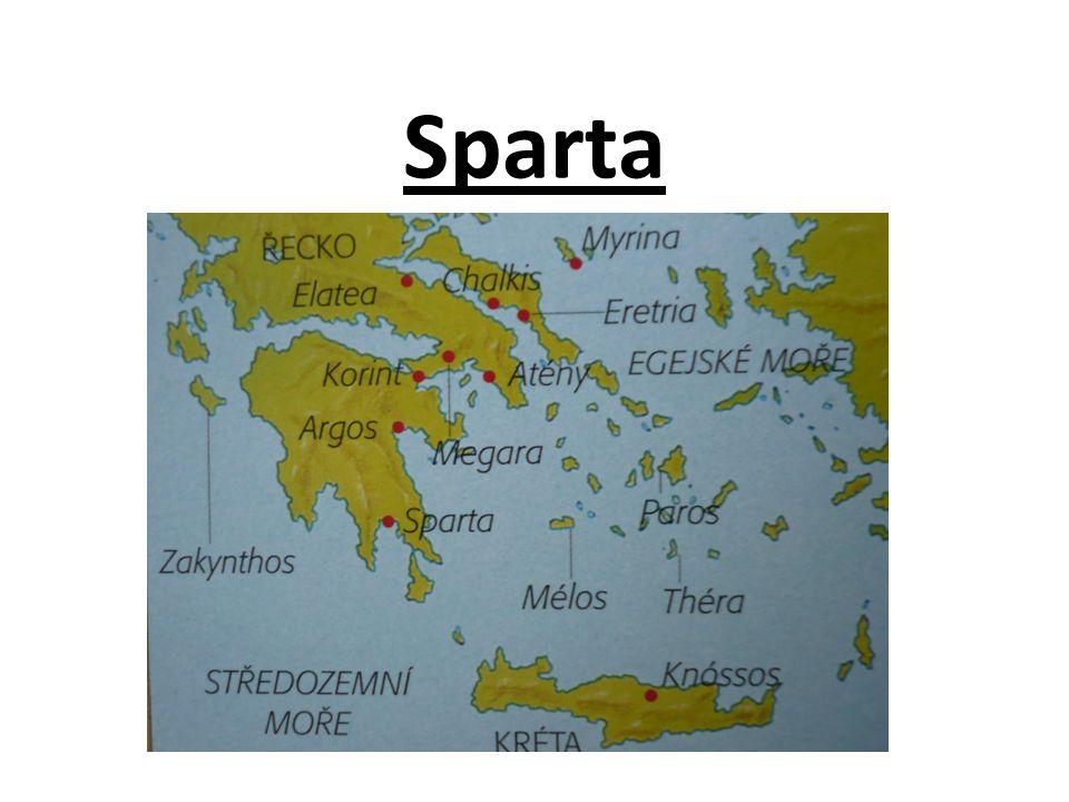 Sparta leží v jižní části Peloponéského poloostrova.